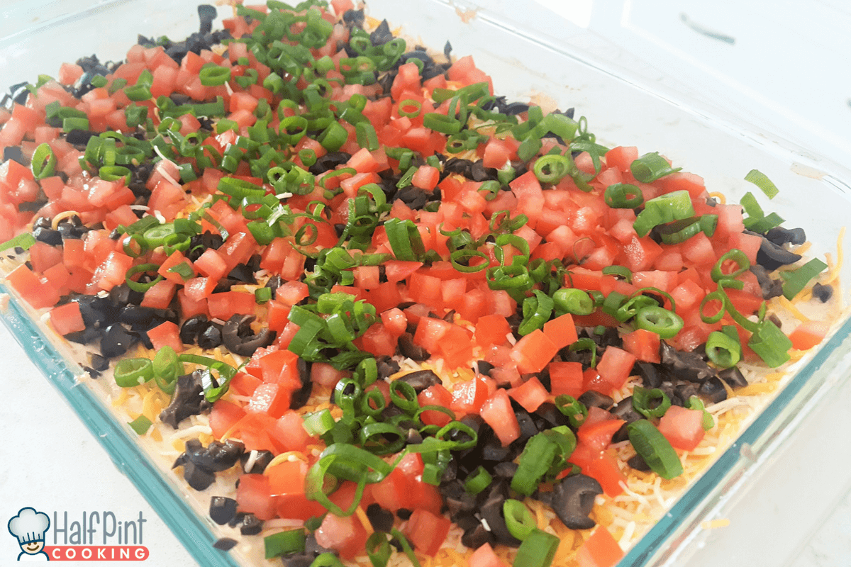 7-layer bean dip-finished
