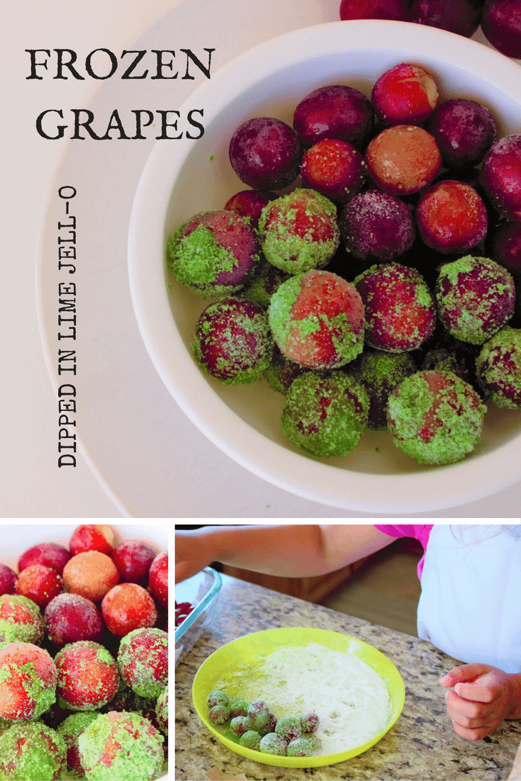 frozen grapes-pinterest