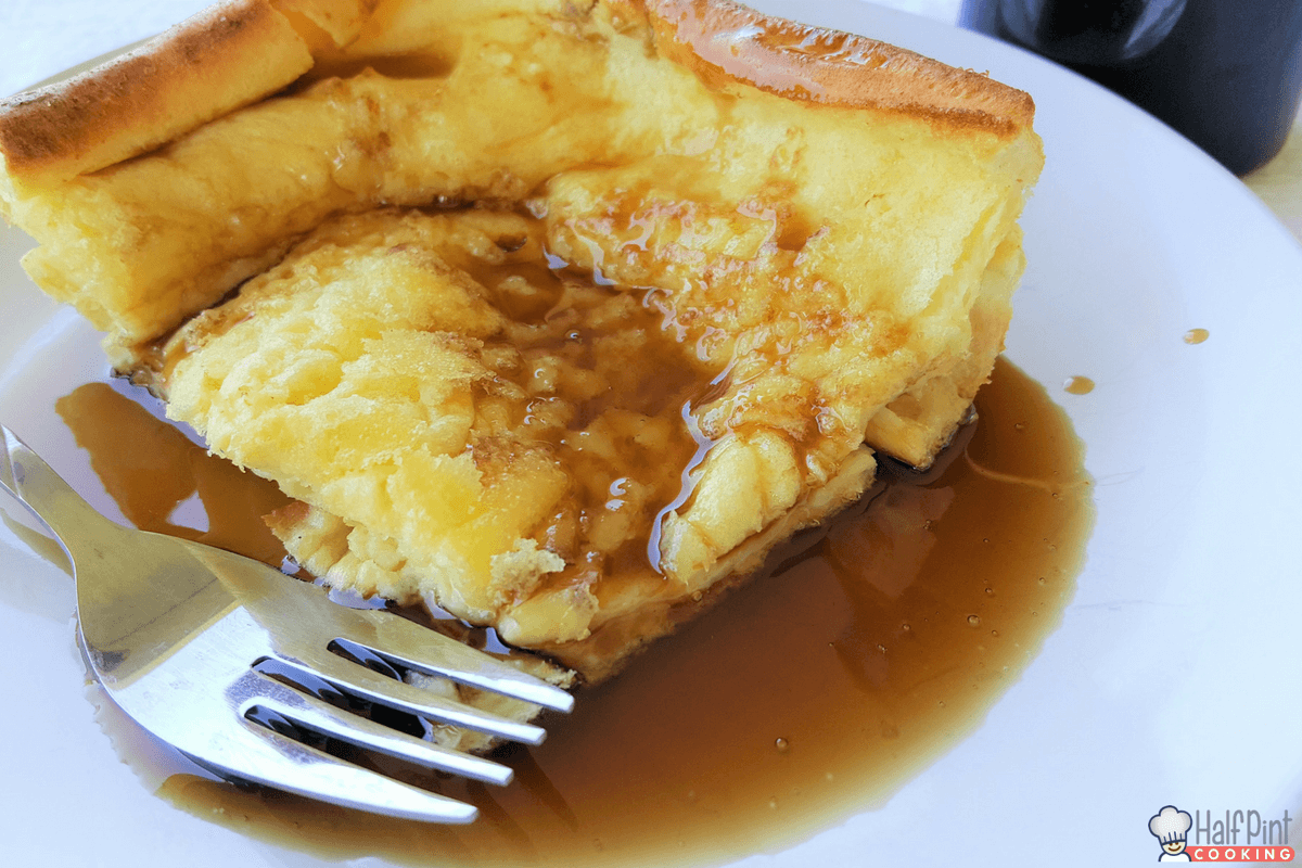 german pancakes-plated with syrup