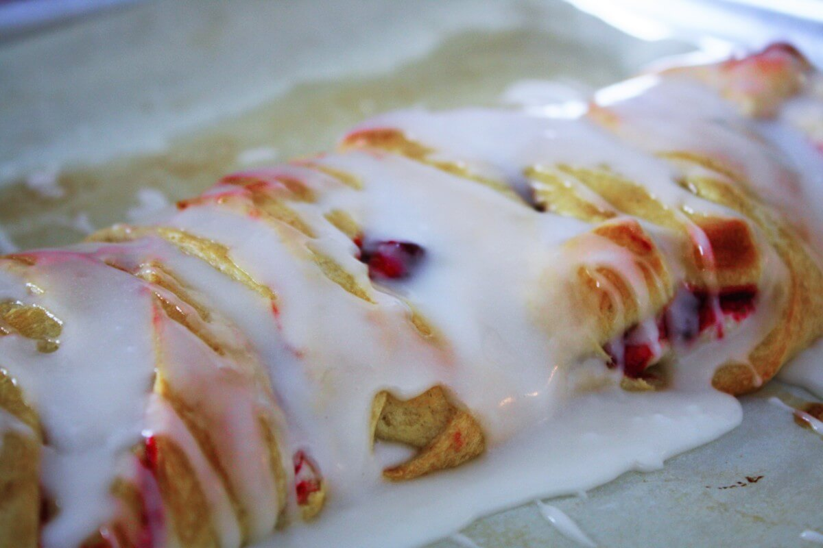 Strudel with Icing