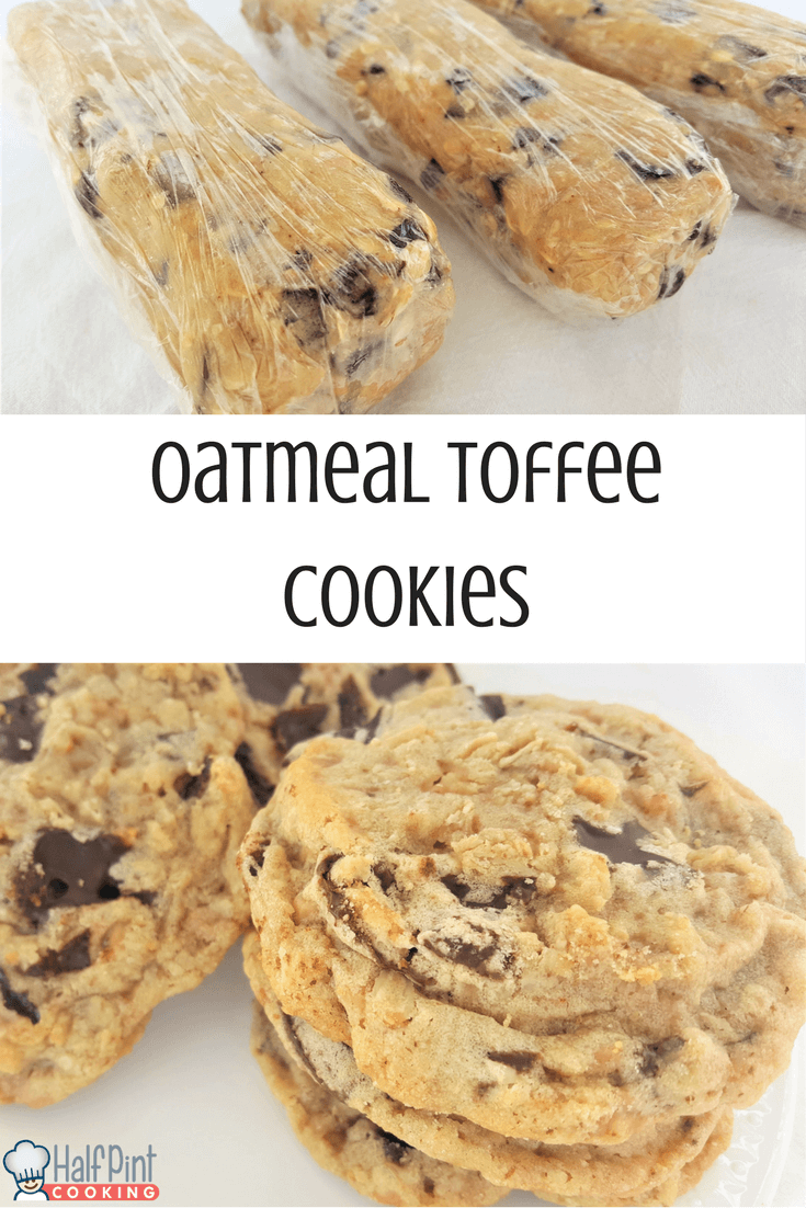 honestly think that the cookie dough for these Oatmeal Toffee Cookies ...