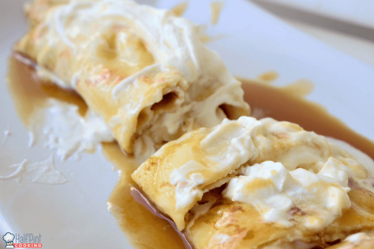 swedish pancakes-cream
