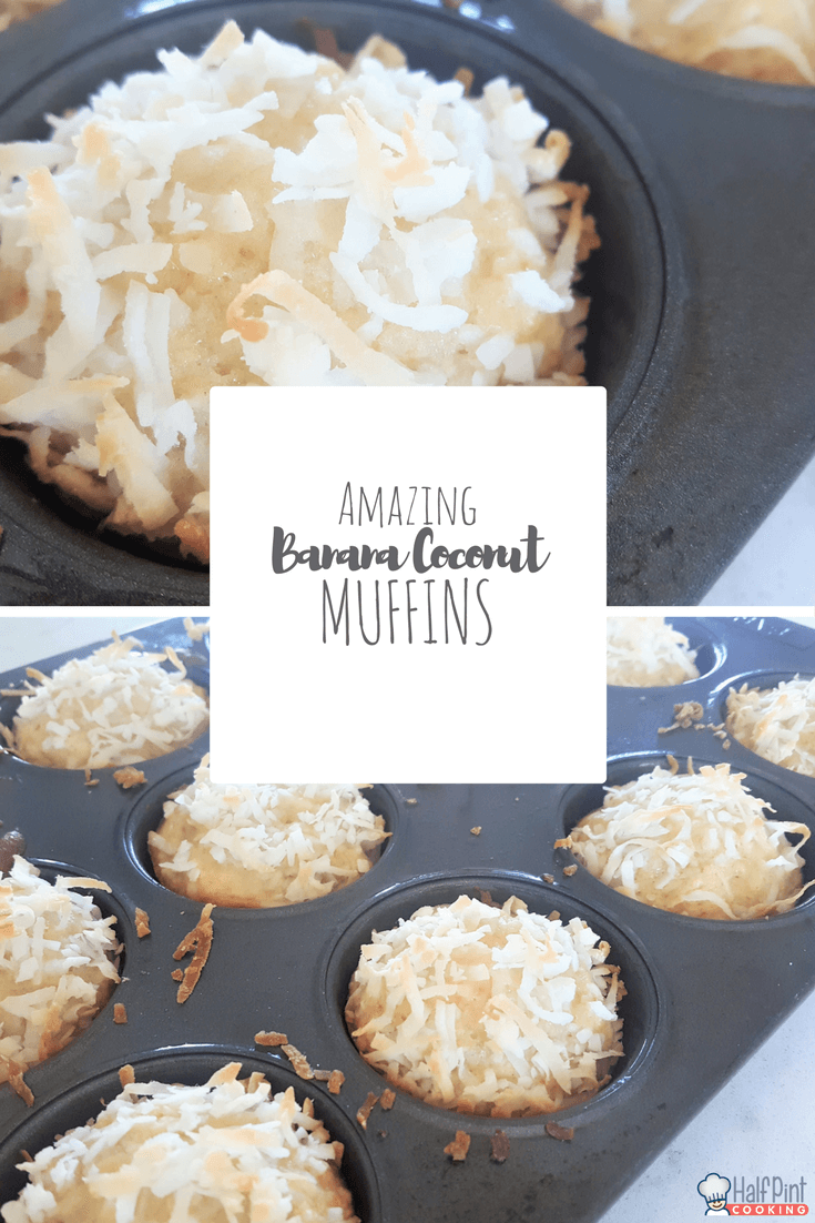 banana coconut muffins-pinterest