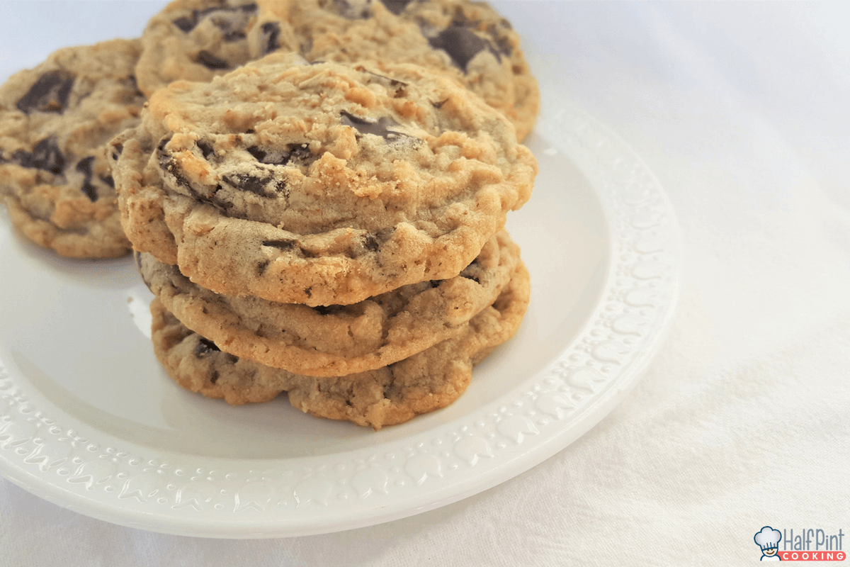 oatmeal toffee cookies-stack left