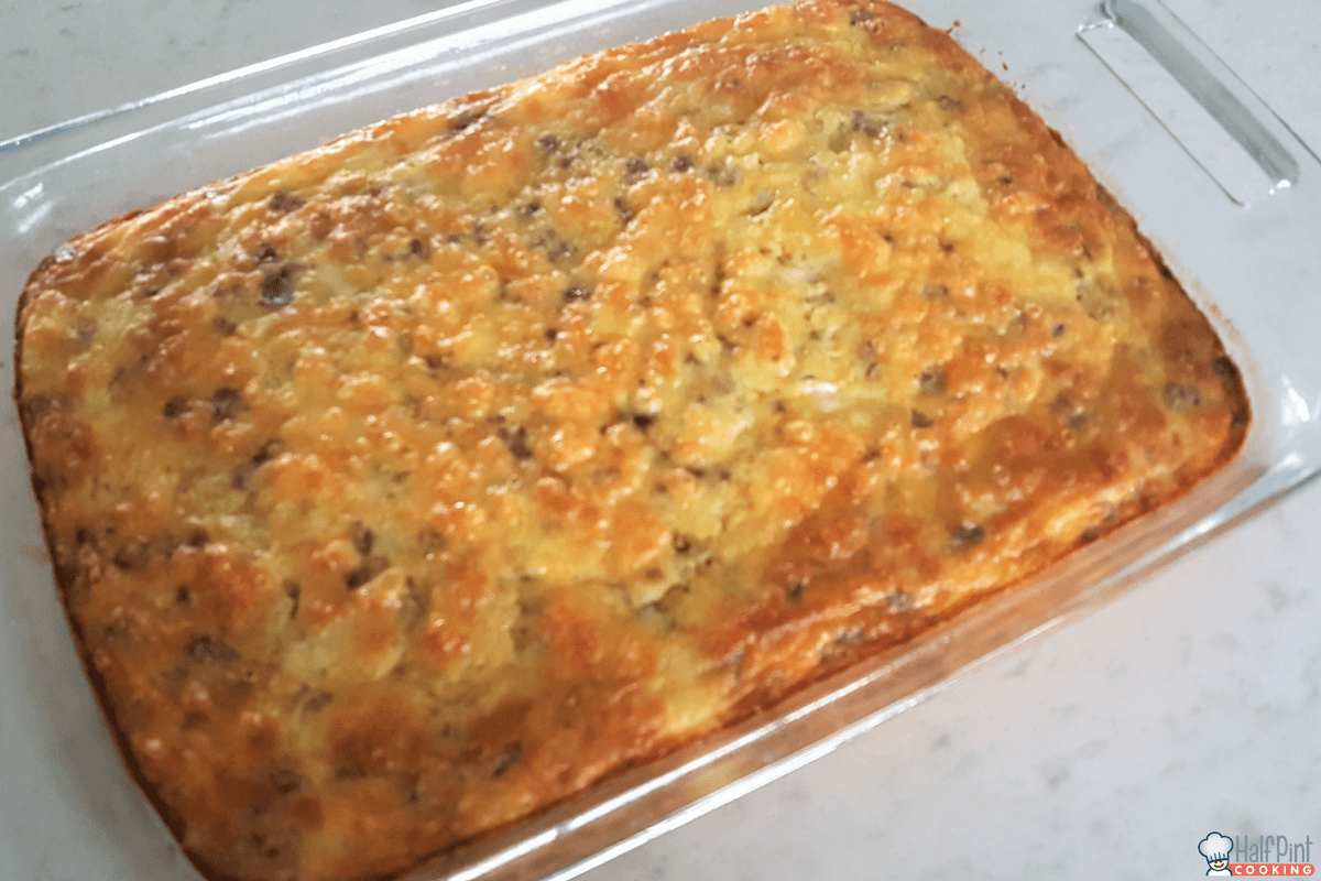 sausage quiche-cooked